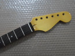 frets for guitars Canada - New 1 pcs Maple 22 frets guitar Neck rosewood fingerboard for ST style Yellowt free shipping