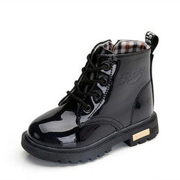 $enCountryForm.capitalKeyWord Australia - New 2019 Girls Martin Boots Boys Shoes Spring Autumn Pu Leather Children Fashion Toddler Kids Warm Winter Boots 3bb