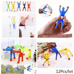 $enCountryForm.capitalKeyWord Australia - 12pcs Lot Fun Flexible Climb Men Sticky Wall Climbing Flip Kids Toys For Children Attractive Classic Birthday Gifts For Boys