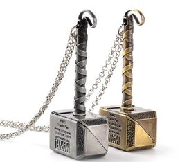 $enCountryForm.capitalKeyWord Australia - 2019 Thor's hammer necklace hammer of Thor initial thor charm gold tone silver tone necklace keyring 632