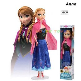 China 31CM Frozen Snow and ice princess wonder doll Anna princess doll set American PVC Kawaii Children Toys Anime Action Figures o11 cheap latex doll child suppliers