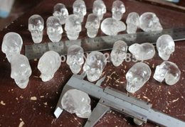 crystal heads Australia - New +++++ 10 Pieces Tiny Natural Clear Quartz Crystal Skulls ,Head Sculpture.Gift ,Sales,Collection.Selling,