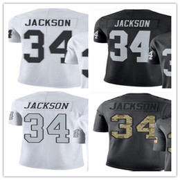 custom 2018 Oakland Raiders sport rugby clothing 34 Bo Jackson men WOMEN  YOUTH Outdoor clothing legend rush baseball jersey 6f3d95c35
