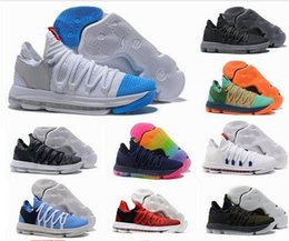 00b5aaf2ba7d 2018 Zoom kd 10 Multi-Color Oreo Numbers BHM Igloo men basketball shoes 10s X  Elite Mid kevin durant Sneakers Trainers Zapatos Chaussures