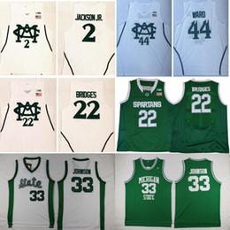 NCAA Mens Michigan State Spartans University Jersey 2 Jaren Jackson Jr. 22  Miles Bridges 44 Nick Ward Basketball Jerseys White Fast Shipping 8c18eb1b9