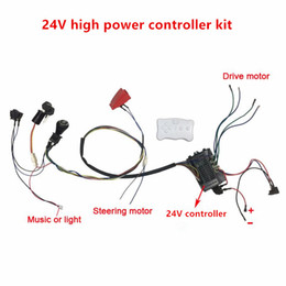 Discount electric controller 24v - Children electric car RX30 24V Kids Cycling DIY Upgrade Kit,24V Speed Controller and 2.4G Bluetooth Remote Harness with