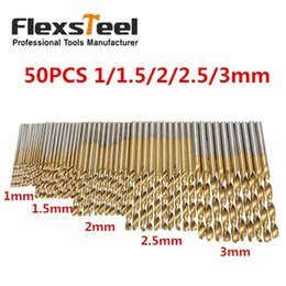 $enCountryForm.capitalKeyWord Australia - wood ball 50pcs  Twist Drill Bit Saw Set 1 1.5 2 2.5 3mm HSS High Steel Titanium Coated Woodworking Wood Tool Drilling For Metal