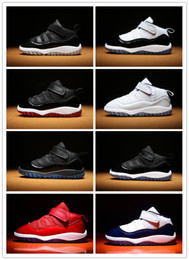 Baby Shoes Red White Australia - Newborn 11s Concord TD Infant Baby Kids Basketball Shoes White Black Gym Red Bred Gamma Blue Girl Toddler Sneakers Prewalker MidNight Navy