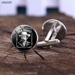 Jack Gifts Australia - fashion Jack Daniels Cufflinks time gem glass Cufflinks Game Related jewelry cute gifts for children wholesale