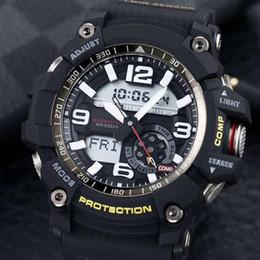 AlArm countdown online shopping - New Fashion Luxury Designer Sports Smart Watch Shock Resist Waterproof World time Light Countdown Alarm Multi Function GG1000 With Box