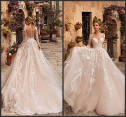 7644520939 Naviblue bridal online shopping - Naviblue New Wedding Dresses Sheer Neck  Long Sleeve Lace Bridal Gowns