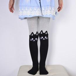 f97463ee1ceb8 Spring Autumn Baby Girls Tights Cartoon Cat Patchwork Children Girl  Pantyhose Pantyhose Soft Kids Cotton Warm Tights
