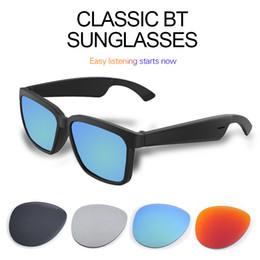 Wholesale Designer Sunglasses Bluetooth 5.0 Classic Women Mens Sunglasses Support Voice Control Wireless Fashion Sunglasses UVA UVB Protection