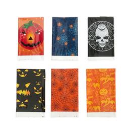 Cubiertas de mesa desechables Estilo de Halloween Calabaza Calavera Patrón Tablas Tela Fiesta temática Manteles de plástico Nueva llegada 2 5hy L1 en venta