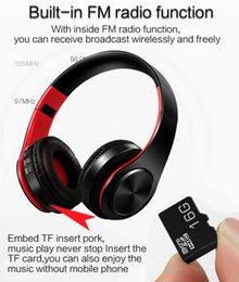 sd card wireless music headphones UK - Hot HIFI stereo earphones bluetooth headphone music headset FM and support SD card with mic for mobile xiaomi iphone sumsamg tablet