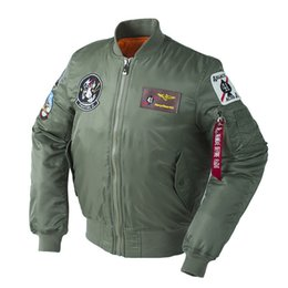 $enCountryForm.capitalKeyWord Australia - Winter Thick Top Gun Us Air Force Plus Size Army Military Puffer New View Bomber Flight Padding Pilot Tactical Jacket For Men