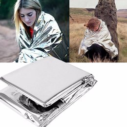 fold portable camping folding tent NZ - New Folding Outdoor Portable Emergency Rescue Tent Blanket Sleeping Bag First Aid Survival Warm Camping Shelter Travel T-shirt ST429