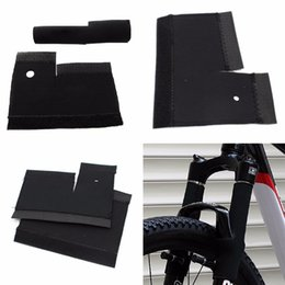 Chain Guards Australia - 1 Pair Bicycle Frame Chain Protector Cycling Mtb Bike Front Fork Protective Pad Guard Wrap Cover Set Bicycle