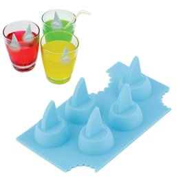 shark mold UK - High Quality Cool Silicone Ice Cube Freeze Mold Shark 3D Shape Ice Tray Ice Cream Tools for Summer Party Bar Kitchen