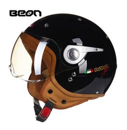Half Face Helmets Australia - BEON the summer seasons personality half covered type electric motorcycle helmet half-face helmets portable men and womenBEON the summer sea