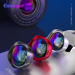 Wholesale Essager k Wide Angle Macro Lens For Iphone Huawei x x Phone Camera Lens Zoom Lens For Smartphone Cell Mobile Phone Lenses J190704