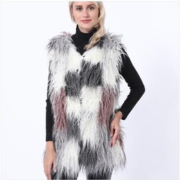 $enCountryForm.capitalKeyWord NZ - 2019 Womens Long Section Fake Fox Fur Vests Mixed Color Large Size Female Man-Made Waistcoats Winter Autumn Vest Coats K975