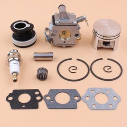air cylinder bore Australia - Carburetor Piston Intake Manifold Bearing Gasket Kit For STIHL MS180 018 MS 180 Petrol Chainsaws 11301200603 11300302004