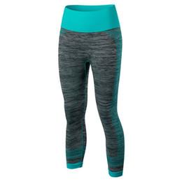 Red Black Leggings Wholesale UK - Women's Fitness Leggings Stretch Gym Running Yoga Sports Cropped Pants Fast Dry Running Pants Yoga