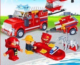 toys boats NZ - Building blocks, small particles, puzzle toys, plastic pieces, children's puzzle toys, police, city fire fighting, aircraft, boat, city buil