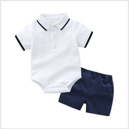 $enCountryForm.capitalKeyWord Australia - 2019 New Summer Baby Boys Clothing Sets Toddler Kids Short Sleeve Polo Shirt Rompers+Shorts 2pcs Set Infant Suits Children Outfits Retail