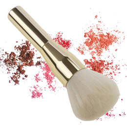 $enCountryForm.capitalKeyWord Australia - Gold Foundation Makeup Brush Soft Hair Blush Brushes Loose Honey Powder Beauty Brush Cosmetic Tool 1pc