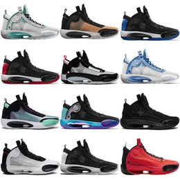 sneakers boys size 13 NZ - Luxury hot esale jumpman XXXIV 34s black cat high-top basketball shoes infrared UNC CNY amber rise bred shicago for men size 7-13 sneakers