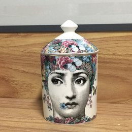 $enCountryForm.capitalKeyWord Australia - Fornasetti Candle Holder Diy Handmade Candles Jar Retro Lina Face Storage Bin Ceramic Caft Home Decoration Jewerlly Storage Box Y19061804