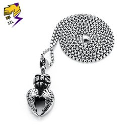 skull wing pendants Australia - Halloween Skull Pumpkin Pendant Necklace for Men Women Silver Chain Stainless Steel Wings Heart Necklace Gifts Jewelry