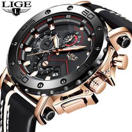 Men Wrist Watches Date Australia - Lige New Men Watches Top Brand Luxury Male Automatic Date Waterproof Sport Watch Men Leather Military Quartz Wrist Watch Relojes Y19052103
