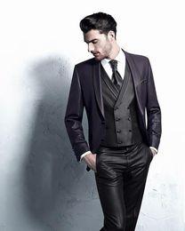 $enCountryForm.capitalKeyWord Australia - Custom-made Two Buttons Groomsmen Shawl Lapel Groom Tuxedos Men Suits Wedding Prom Dinner Best Man Blazer(Jacket+Pants+Tie+Vest) A113