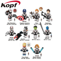 Discount hero blocks - Block Puzzle Avengers: Endgame - Marvel Super Heroes ABS Minifig Collectible Model Retail action Figures The Avengers 4