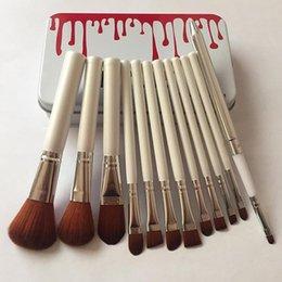 2020 vendita calda spazzole nuovo Mac / Kylie trucco pennello fondazione cipria trucco di alta tecnologia make up attrezzi 12pcs / set free shipping in Offerta