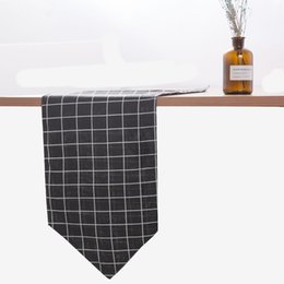 $enCountryForm.capitalKeyWord UK - 2019 New Banquet plainable Runner modern simple canvas backdrop table cloths thickening wear-resistant conference grid tablecloth family