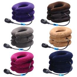 Travel Rest Inflatable Pillow Australia - Massage Inflatable Neck Pillow Inflatable U Shaped Travel Pillow Car Head Neck Rest Air Cushion for Travel Neck Pillow