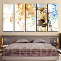 japanese wall canvas Australia - Modular Picture Poster Canvas Painting Print Japanese Anime One Piece Portgas D Ace Wall Art Living Room HD Wallpaper Home Decor