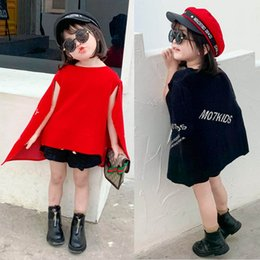 ponchos clothing Australia - Fashion letter Girls Cloak knitting wool Kids Cape Winter Boutique Girls Poncho kids designer clothes girls poncho retail A8515