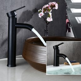 Single handle centerSet faucet online shopping - Faucets Biggers Black Color Stainless Steel Bathroom Basin Faucet Single Handle Cold And Hot Water Mixer