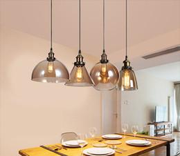 $enCountryForm.capitalKeyWord UK - Vintage Pendant Lights American Amber Glass Pendant Lamp E27 Edison Light Bulb Dinning room Home Decor Planetarium Lamp