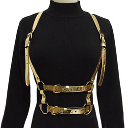 bondage waist belt Canada - new Women Sexy Harajuku Garters color Leather Body Bondage Cage Sculpting Harness Waist Belt Female Straps Suspenders Dress Belt Y200117