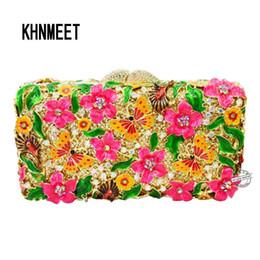928654f0c Diseñador de colores brillantes bolsos de embrague flor mariposa noche  bolsos mujeres cristal fiesta de graduación bolso tachonado SC210 # 258737