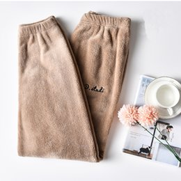 dd7cc257b1 Pyjama sexy girl online shopping - Thicken Warm Women Pyjama Trousers  Autumn Winter Lounge Sleep Bottoms