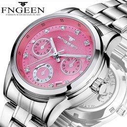 Womens Waterproof Luxury Watches Australia - FNGEEN Top Luxury High Quality Brand Business Ladies Watches 30m Waterproof Luminou Calendar Womens Wristwatch Clock reloj mujer