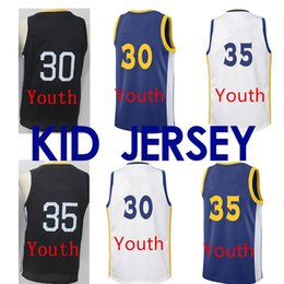 kids basketball jerseys 2019 - kid Stephen 30 Curry 35 Durant Warrior Jersey Logos Basketball 100% Stitched Jersey basketball Jersey cheap kids basketb
