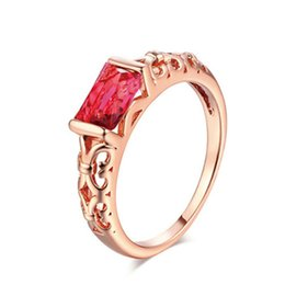 $enCountryForm.capitalKeyWord NZ - Hollow Out Beautiful Rings Big Red White Crystal Women High Quality 1PC Zircon Crystal Silver Bride Size 6 7 8 9 10 Rose Golden